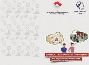 Verimlilik Temalı Fikir ve Kısa Film Yarışması 2016 haberler ektinlikler